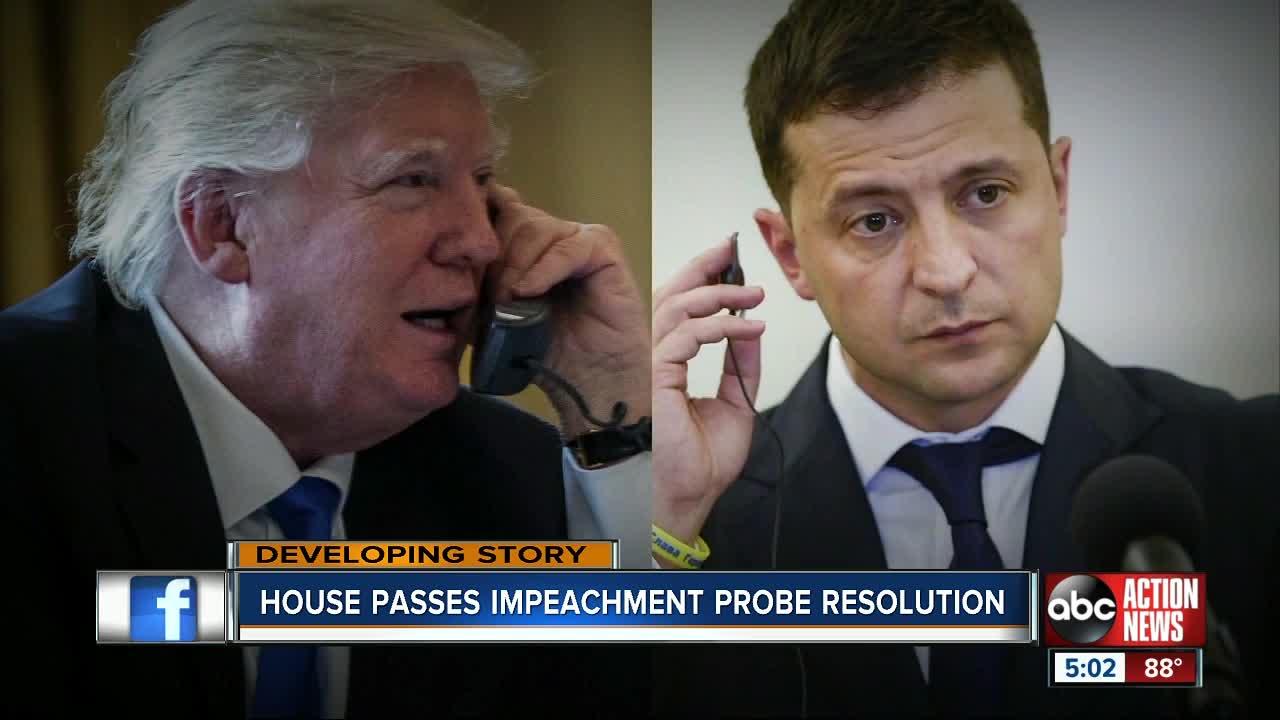 House passes impeachment probe resolution