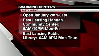 Warming centers opening up around mid-Michigan