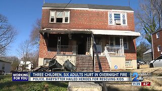 Three children, two Baltimore City officers among those injured in house fire