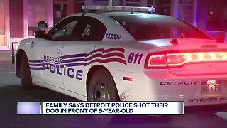 Family says Detroit Police shot their dog in front of a 9-year-old