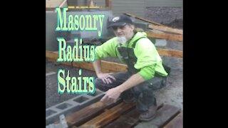 masonry radius stairs