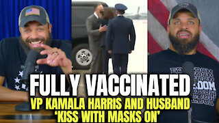 Fully Vaccinated VP Kamala Harris And Husband Kiss With Masks On