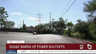 SDG&E warns of more power outages