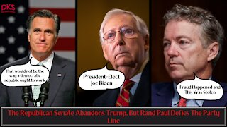 The Republican Senate Abandons Trump, But Rand Paul Defies The Party Line