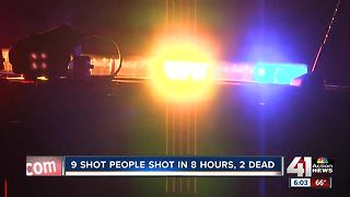 9 people shot, 2 killed in KC in span of 8 hours