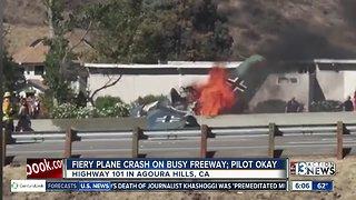 Fiery plane crash in California