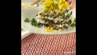 Vegan Corn Mushroom Mexican Lasagna