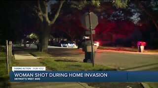 Woman critical after being shot by masked man during home invasion