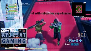 Fortnite | A quick 1v1 with subscriber superhumion.