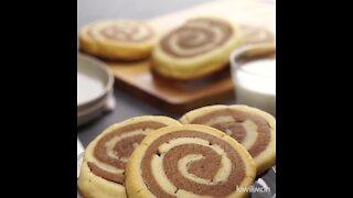 Polvorones de Chocolate en Espiral