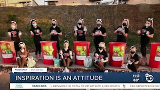 Torrey Pines High School cheer team rallies school spirit, volunteering during pandemic