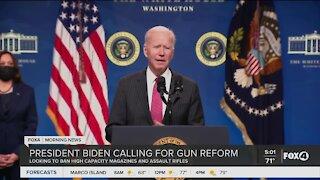 President Biden focuses on gun reform