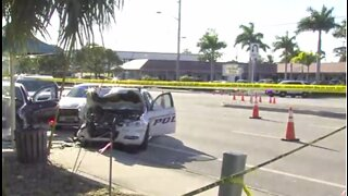 Jupiter police officer involved in crash with suspect recovering
