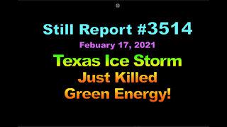 Texas Ice Storm Killed Green Energy 3514