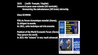 (Français/ENG) Klaus SCHWAB (World Economic Forum) announces human microchip 2016. BEWARE / DANGER