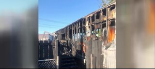 2 kids escape house fire in Las Vegas