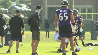 Tempers flare at Ravens training camp