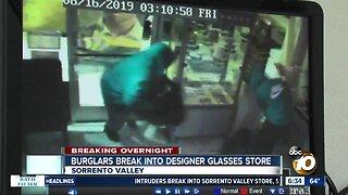 Sorrento Valley glasses store burglarized