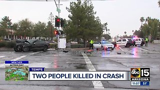 Two people killed in Tempe crash