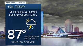 Thunderstorms likely Monday afternoon