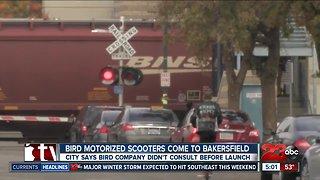 Bird Scooters hit downtown Bakersfield