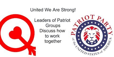 UNITED WE ARE STRONG! #001- Telegram Patriot Groups + Assemblies - Leader Zoom Meetings