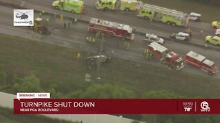 Deadly crash ties up traffic on Florida's Turnpike in Palm Beach Gardens