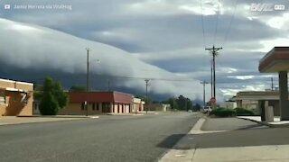 L'inizio della furiosa tempesta in Texas