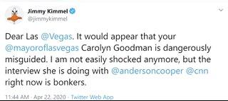 Jimmy Kimmel says Las Vegas mayor should resign