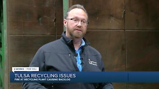 Fire at Tulsa recycling plant causing backlog issues