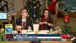 Build your own gingerbread house today at Beale Memorial Library