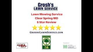 Lawn Mowing Service 5 Star Video Review Clear Spring MD