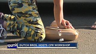 Teens teach CPR at Dutch Bros