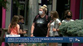 Jenks City Council, Set to Vote on Mask Ordinance
