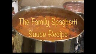 The Family Spaghetti Sauce Recipe