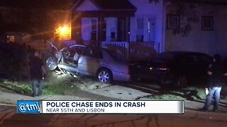 Police chase ends in serious crash in Milwaukee