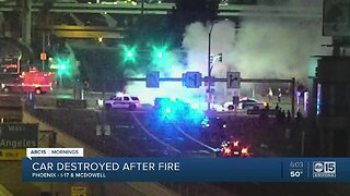 Fiery Crash Near McDowell and I-17