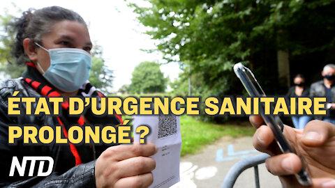 Prolongation possible de l'état d'urgence sanitaire; Pfizer : les vaccins approuvés non disponibles?