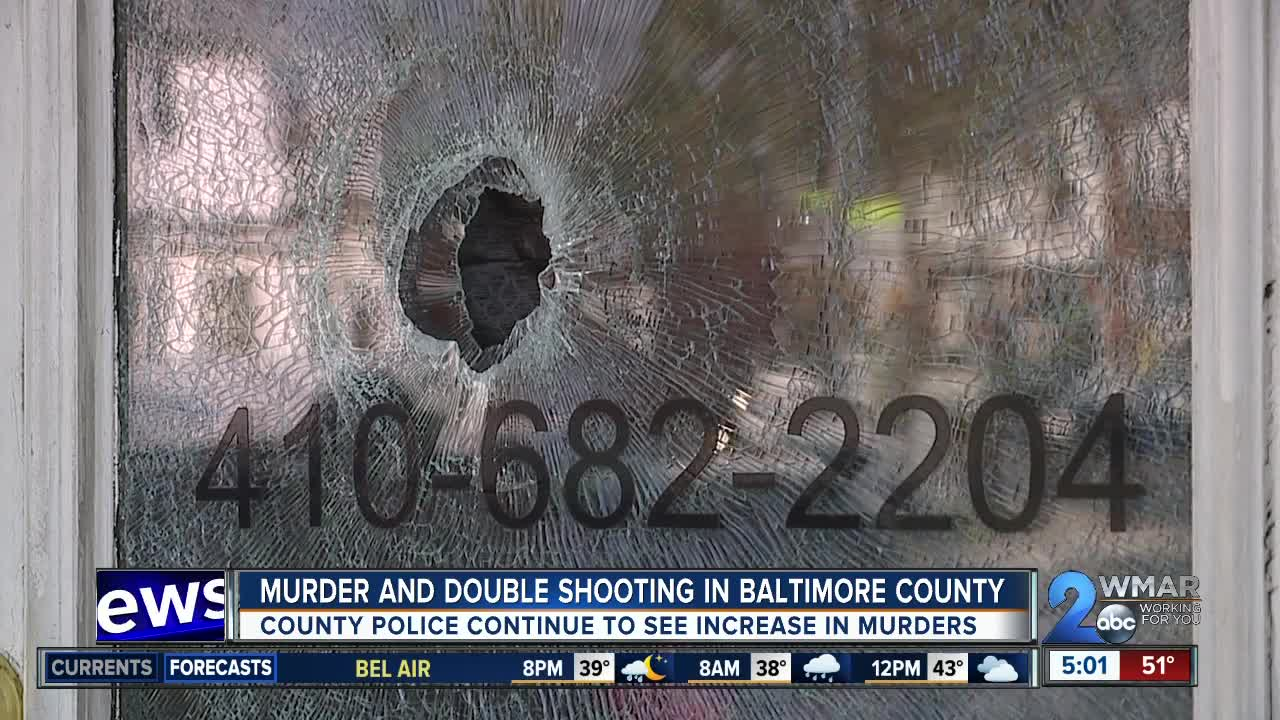 Murder, double shooting in Baltimore County