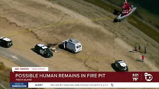 Possible human remains found in Fiesta Island fire pit