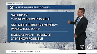 Metro Detroit Forecast: Cold weather continues; weekend snow