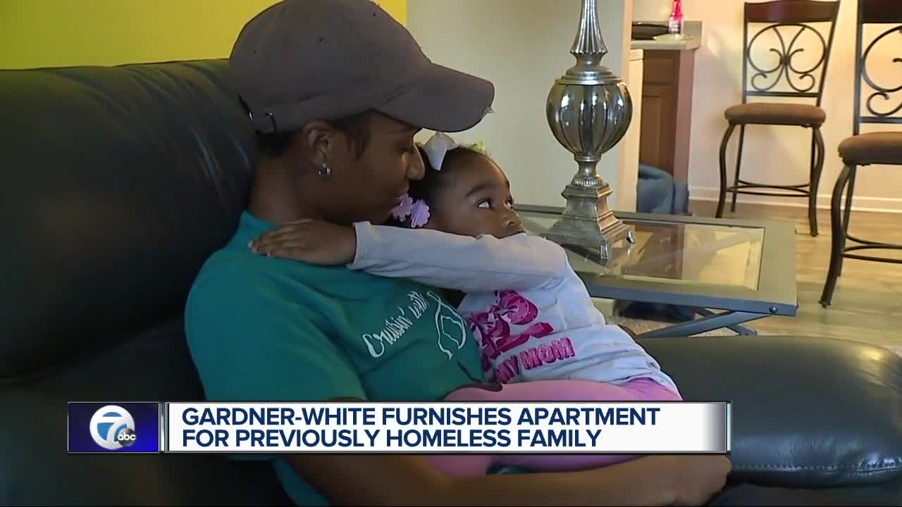 Gardner-White Furnishes apartment for previously homeless family