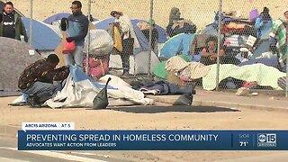 Preventing spread in homeless community