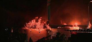 Fire breaks out at wedding chapel in downtown Las Vegas
