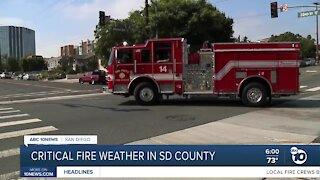 Fire crews preparing ahead of red flag warning