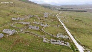 Drone footage captures ancient deserted village in Ireland