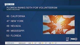 Florida ranked last for volunteerism