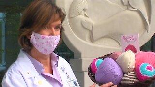 Knitting needles make life easier for breast cancer survivors