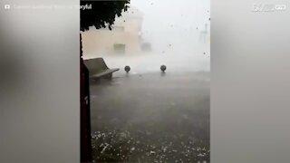 Tempesta inaspettata colpisce la Spagna