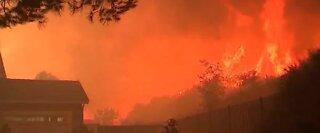 Wildfire in Riverside County, California